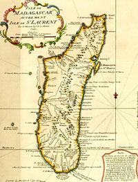 carte de Madagascar en 1747